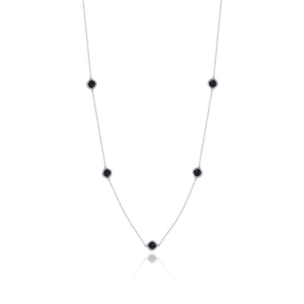 Tacori 5-Station Black Onyx Silver Necklace SN23919