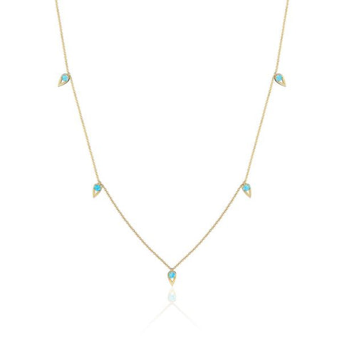 Tacori 5-Station Open Crescent Turquoise Necklace SN24448FY