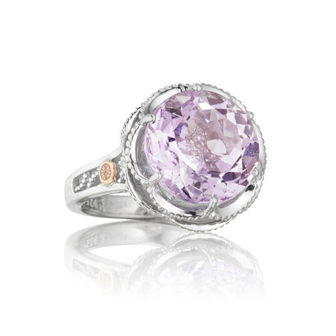 Tacori Crescent Gem Ring featuring Rose Amethyst SR12313
