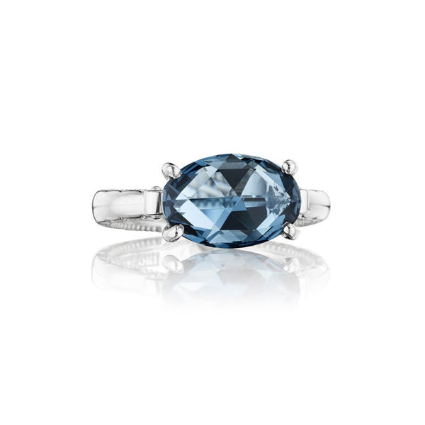 Tacori Island Rains East-West Oval London Blue Topaz Ring SR13933