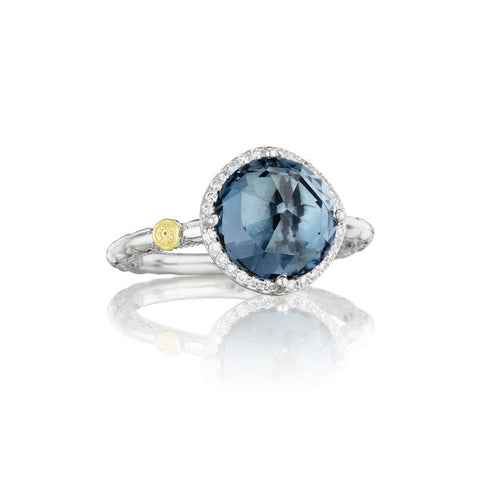 Tacori Island Rains Pavé London Blue Topaz Silver Ring SR14533