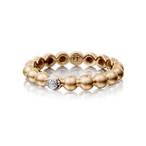 Tacori 18KT Rose Gold 3MM Beaded Ring SR191P