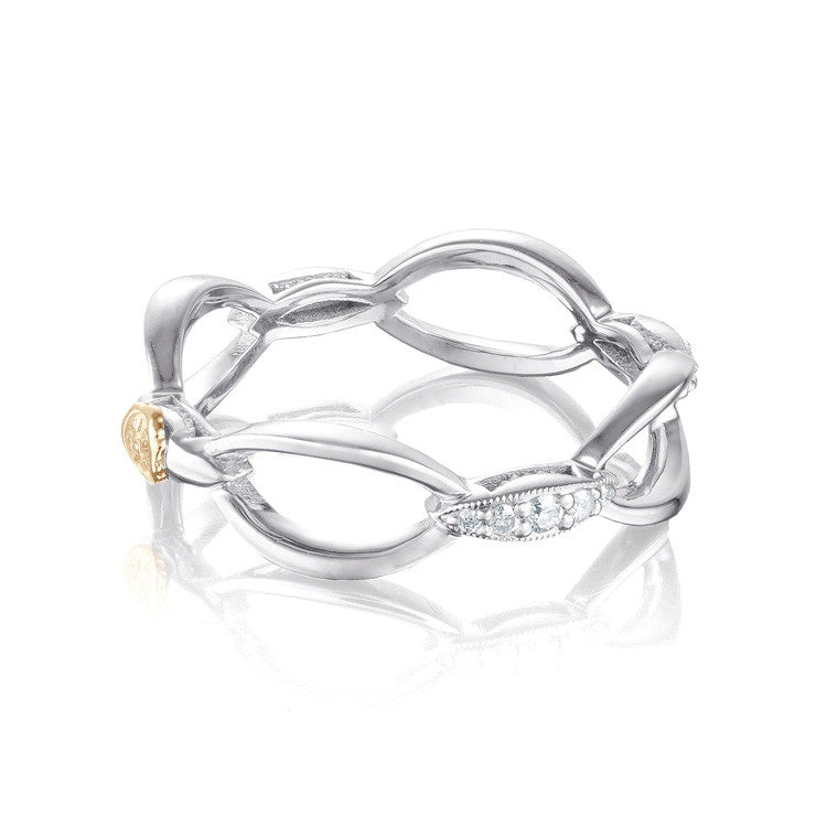 Tacori The Ivy Lane Pavé Open Air Silver Ring SR203
