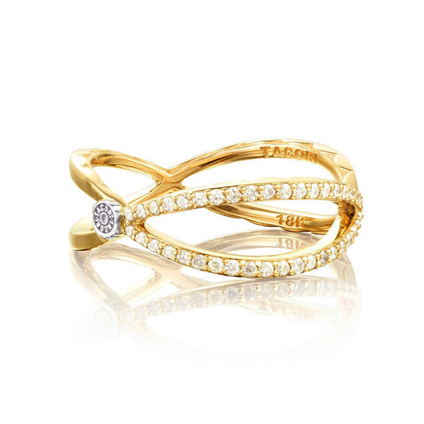 Tacori 18K Yellow Gold Diamond Open Marquise Design Ring SR208Y