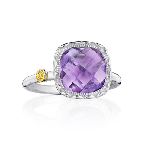 Tacori Cushion Gem Ring with Amethyst SR23101
