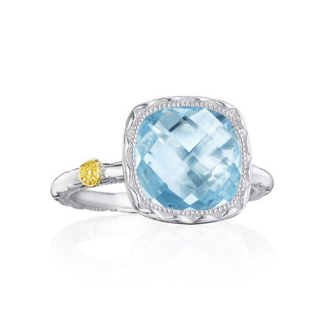 Tacori Cushion Gem Ring with Sky Blue Topaz SR23102
