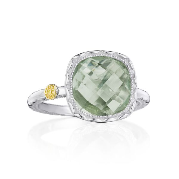 Tacori Cushion Gem Ring with Prasiolite SR23112