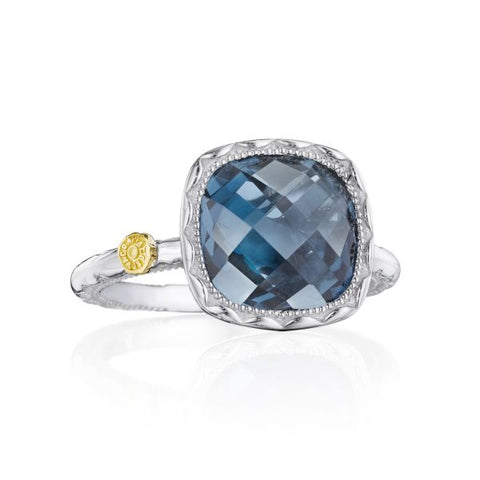 Tacori Cushion Gem Ring with London Blue Topaz SR23133