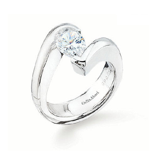 Gelin Abaci Tension 14K White Gold Engagement Ring TR-071A