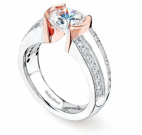 Gelin Abaci Tension Diamond Engagement Ring TR-162