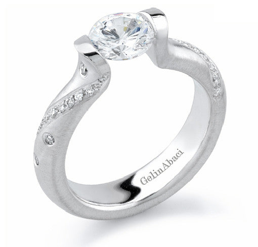 Gelin Abaci Tension Diamond Engagement Ring TR-196