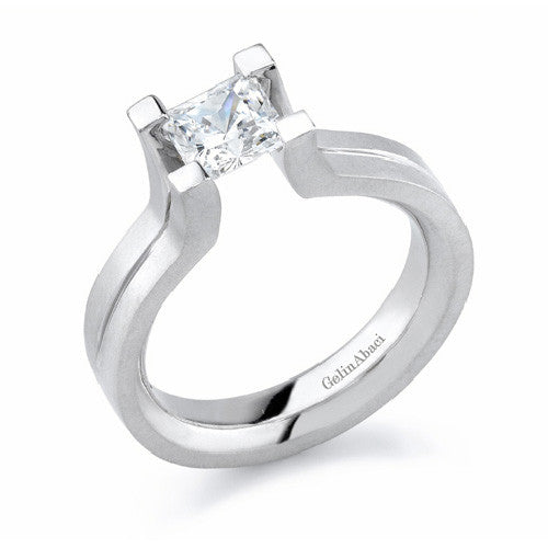Gelin Abaci Tension 14K White Gold Engagement Ring TR-201