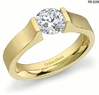 Gelin Abaci Yellow Gold Engagement Diamond Ring TR-229