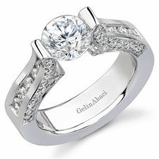 Gelin Abaci 14K White Gold Diamond Engagement Ring TR-209