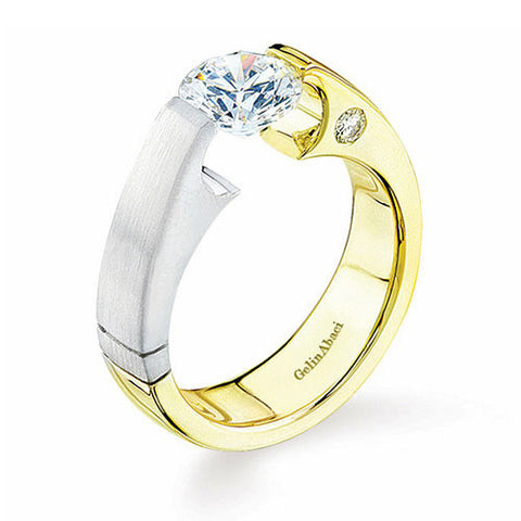 Gelin Abaci Two Tone Solitaire Engagement Ring TR-055