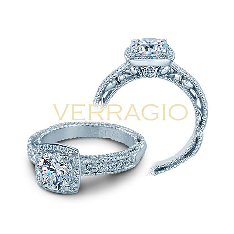 Verragio 18K White Gold Diamond Engagement Ring VENETIAN-5004-3