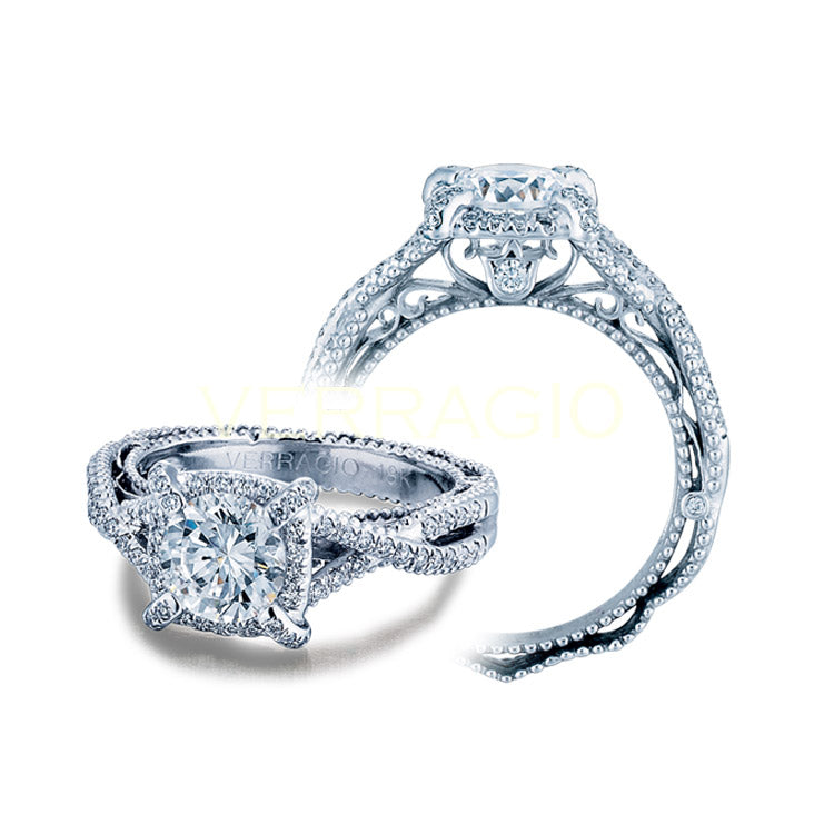 Verragio Venetian Round Center Diamond Engagement Ring VENETIAN-5027-4