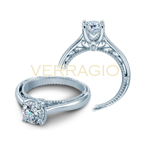 Verragio 18K White Gold Solitaire Engagement Ring VENETIAN-5047RD-1