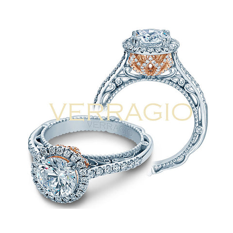Verragio Rose Gold Profile Diamond Engagement Ring Venetian-5061R-TT