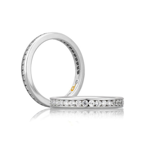 A.JAFFE 18K White Gold Diamond Wedding Band WR0682