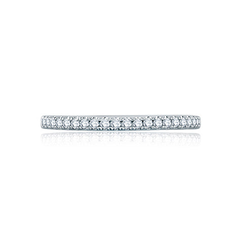 A.JAFFE French Pavé Half Circle Stackable Women's Wedding Band WR1044/16