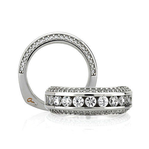 A.JAFFE 18K White Gold Wedding Band WRS137 / 143