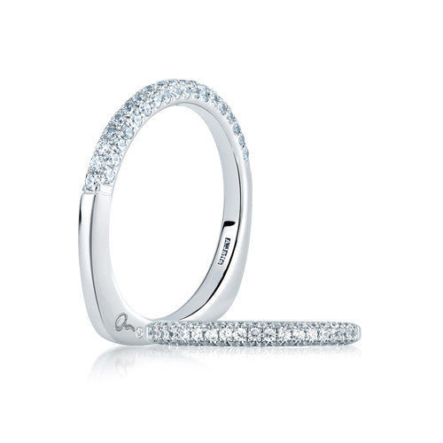 A.JAFFE Simple Close Pav̩ Set Anniversary Ring WRS150 / 50