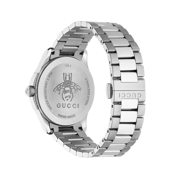 Gucci Men's G-Timeless 38mm Stainless Steel Bracelet Swiss Quartz Watch YA1264029
