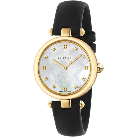 Gucci Diamantissima 32MM Medium Leather Strap Women's Watch YA141404