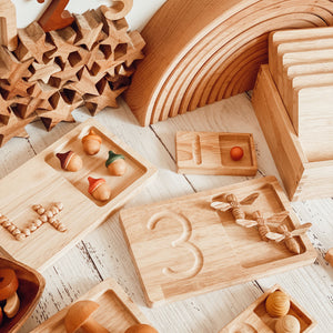 Wooden Number Tiles Small