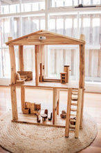 Load image into Gallery viewer, Natural Wooden Dolls House