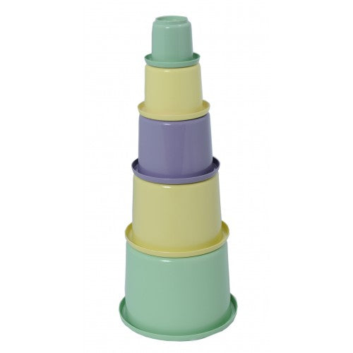 Plasto I Am Green Stacking Cups 5 Pieces
