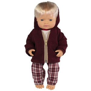 Miniland Doll - Anatomically Correct Baby, Caucasian Boy and Outfit Boxed, 38 cm (UNDRESSED)