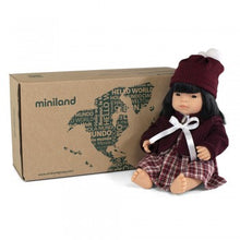 Load image into Gallery viewer, Miniland Doll - Anatomically Correct Baby, Asian Girl and Outfit Boxed, 38 cm (UNDRESSED)