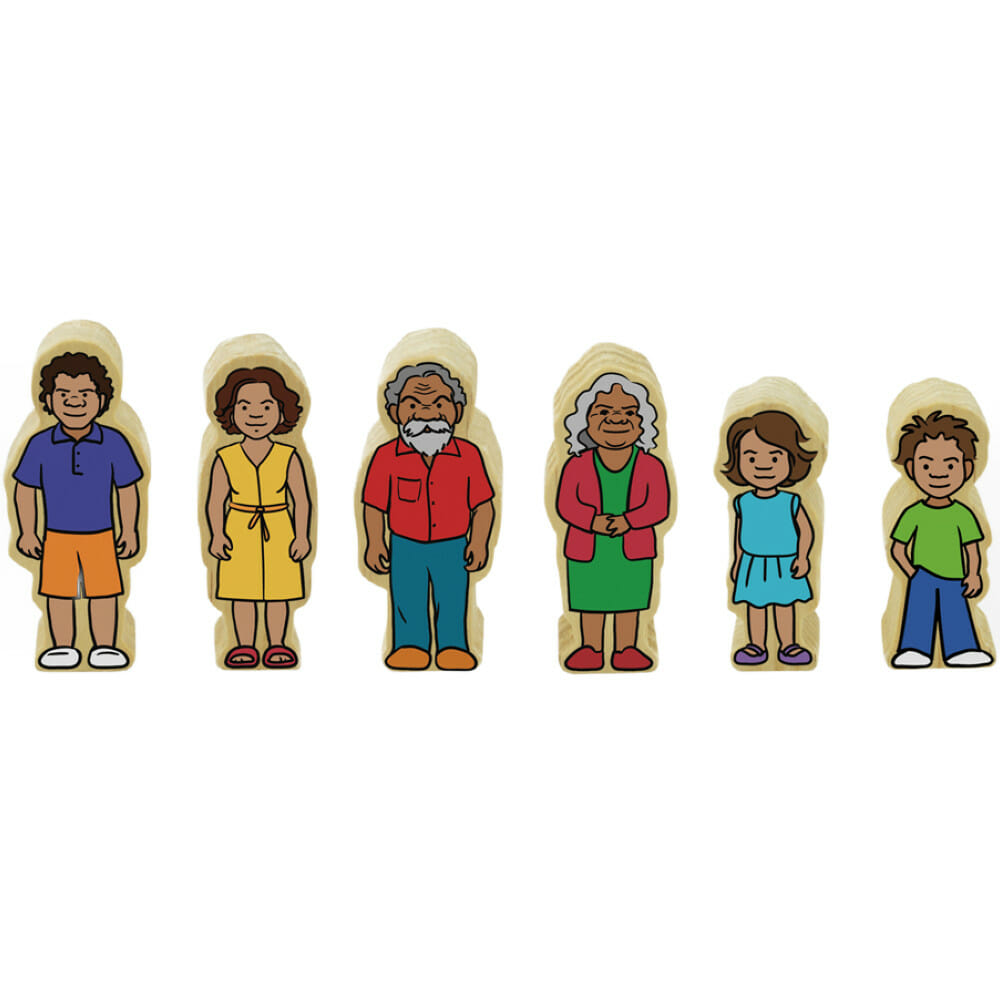 Indigenous Wooden People Set