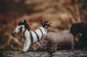 Felted African Animal Set