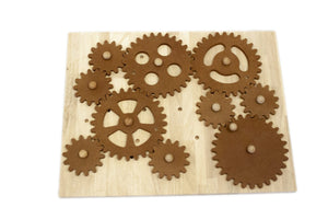 Wooden Gear Construction Set