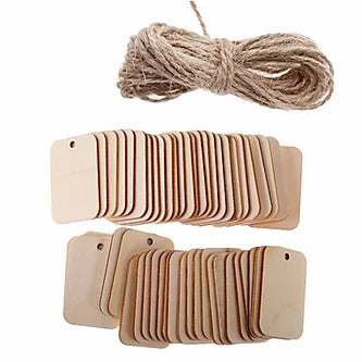 WYLTP Wooden Tags Rectangle