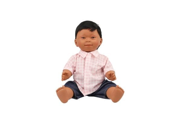 Doll With Down Syndrome Brown Boy 40cm