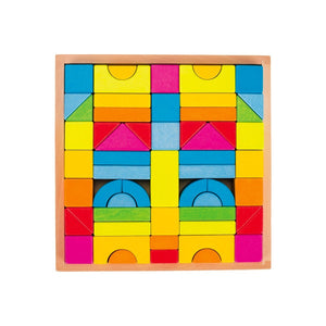 Rainbow Building Block Set