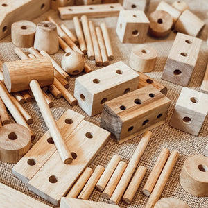 Wooden Construction Set Natural