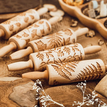 Load image into Gallery viewer, Engraved Wooden Rolling Pin Set