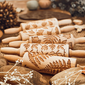 Engraved Wooden Rolling Pin Set