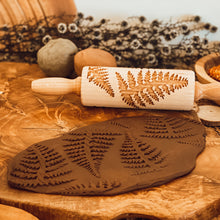 Load image into Gallery viewer, Engraved Wooden Rolling Pin Fern