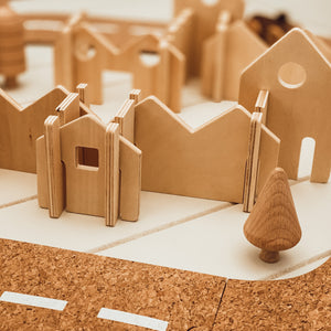 Small Wooden Houses Construction Set