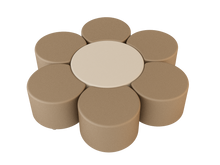 Load image into Gallery viewer, Natural Line Soft Seating Circle Beige