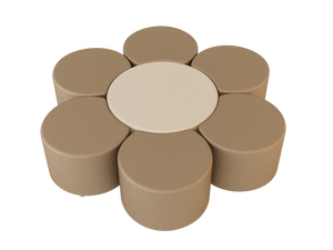 Natural Line Soft Seating Circle Beige