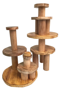 Stacking Tree Trunks & Wood Pyramid Building Set