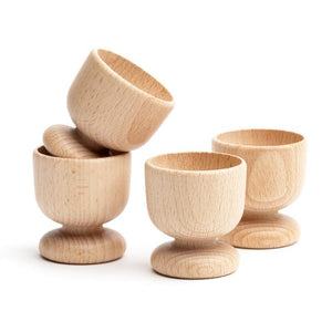 Wooden Egg Cup Set