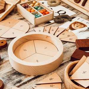 Wooden Fraction Puzzle